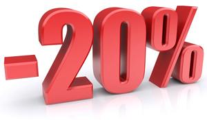 -20% sur le prix du kWh HT par rapport au tarif bleu EDF