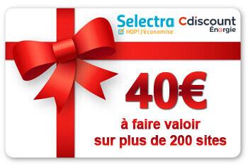 Bon d'achat Cdiscount Selectra : 40€