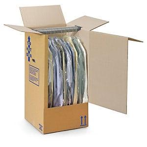 Carton déménagement penderie