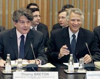 Dominique de Villepin et Thierry Breton