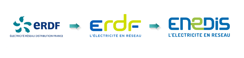 Le changement de nom et de logo d'Enedis (ex- ERDF)