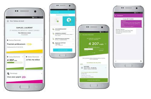 fonctionnalités application mobile direct énergie