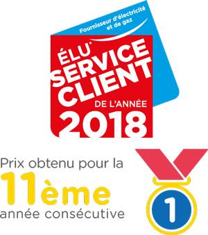 Direct Energie service client de l'année