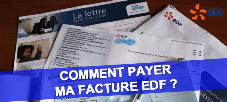 EDF payer ma facture