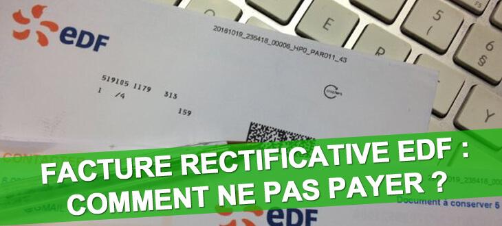 Facture rectificative EDF ne pas payer