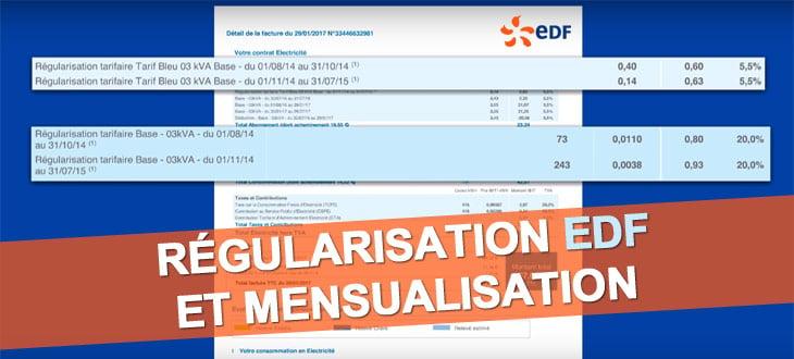 Régularisation EDF