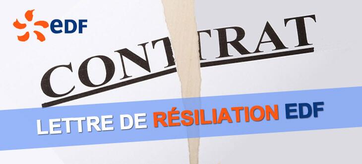 Lettre De Resiliation Edf Modele Gratuit Electricite Et Gaz