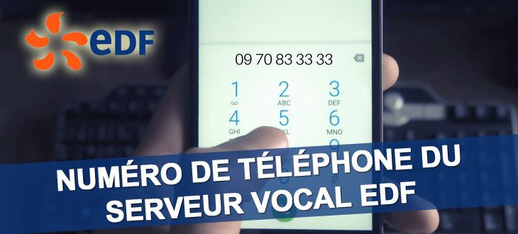 Serveur Vocal Edf Payer Sa Facture Edf Par Telephone