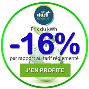 -16% sur le prix du kWh Mint Energie