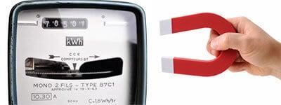 Fraude aimant compteur électrique