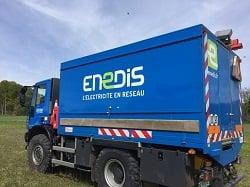 Camion Bleu Enedis