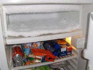 Givre frigo congélateur