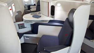 Classe Affaires d'un vol Air France long courrier (A380)