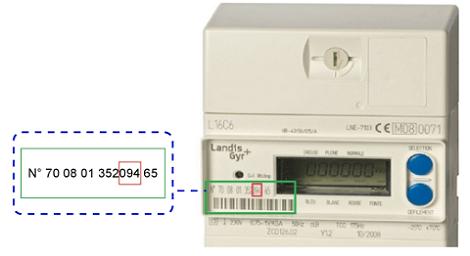 Matricule compteur électronique