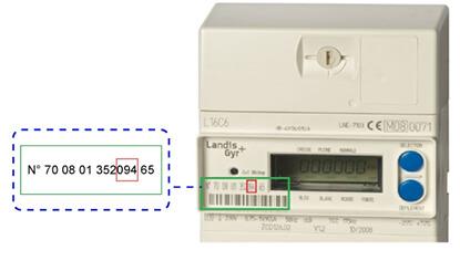 Matricule compteur électrique