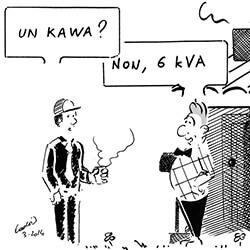 Que veut dire kVA en électricité